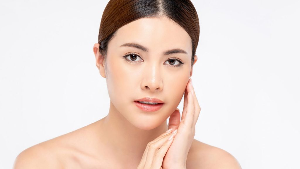 asian woman with radiant Skin